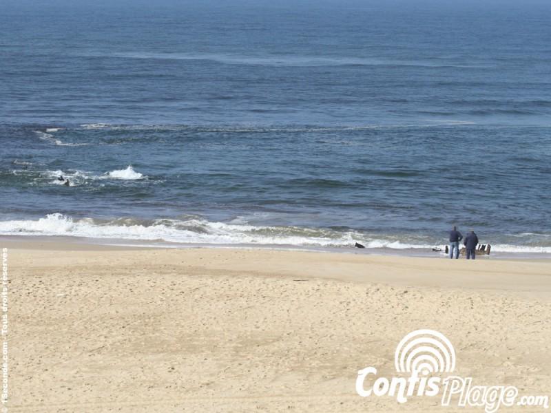 Épave du Renown sur la plage de Contis