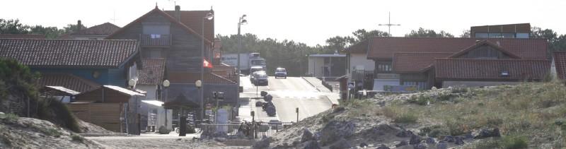 Contis - Avenue de l'Océan - vue de la plage