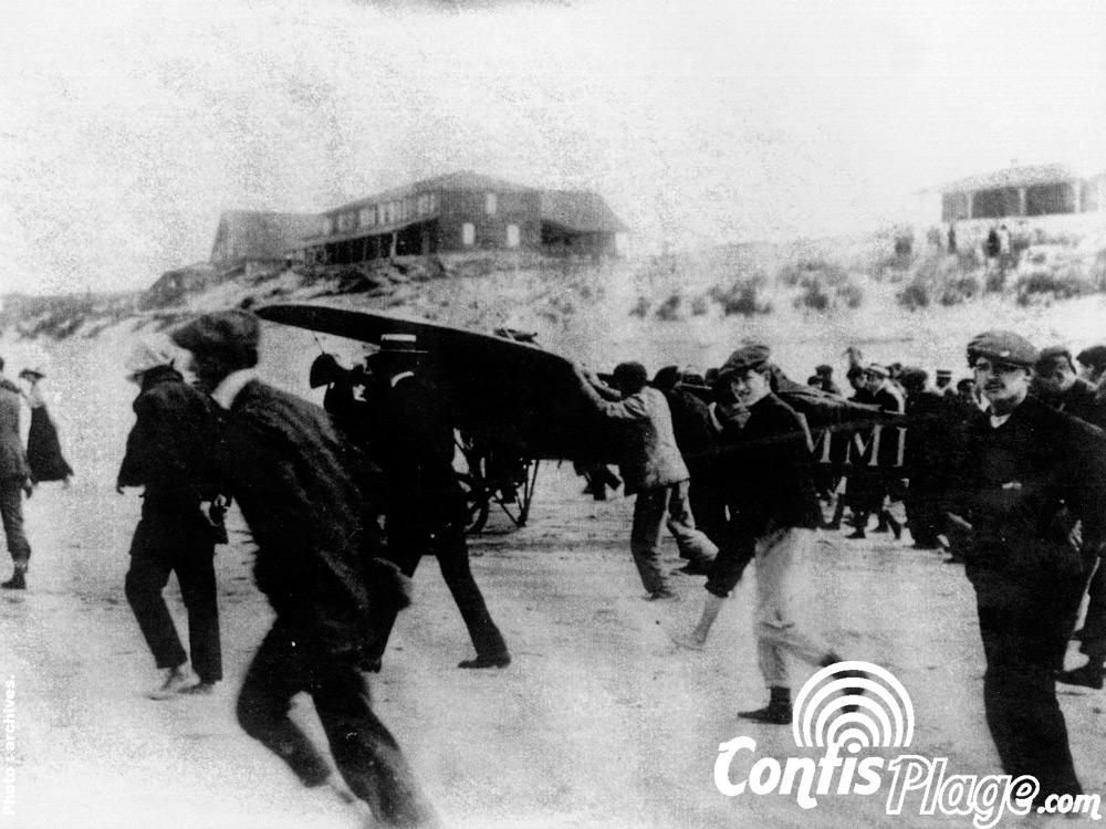 Décollage de Léon bathiat sur la plage de Contis