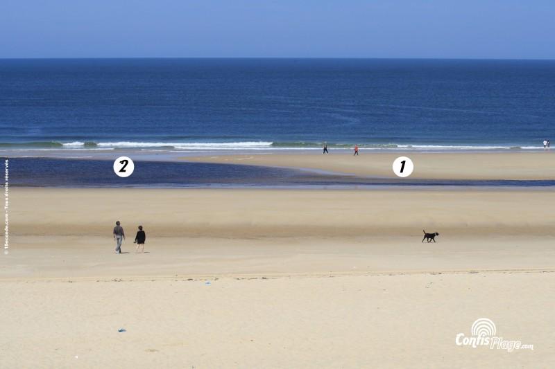 Baïne typique de la plage de Contis la pla