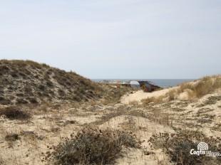 Vue de l'Est - bunker R612 - Position Ba01 Contis