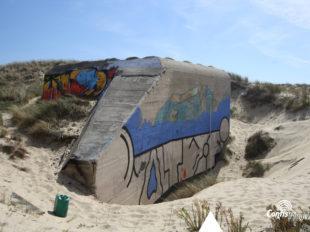 Échelle 5m - Face Nord-Ouest - bunker R612 - Position Ba01 Contis - septembre 2016