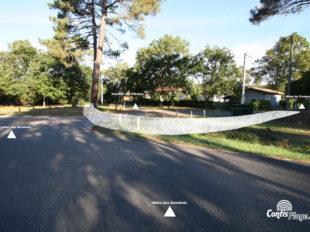 Vue depuis le carrefour des Gourbets, commune de Lit-et-Mixe. Ancienne voie militaire d'accès à Ba03 - section 02
