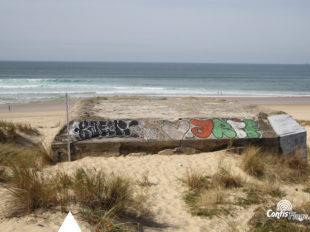 Échelle 2m - Face Est - bunker R612 - Position Ba01 Contis - septembre 2016