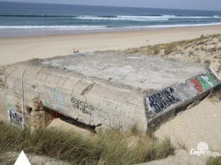 Échelle 4m - Face Sud-Est - bunker R612 - Position Ba01 Contis - septembre 2016