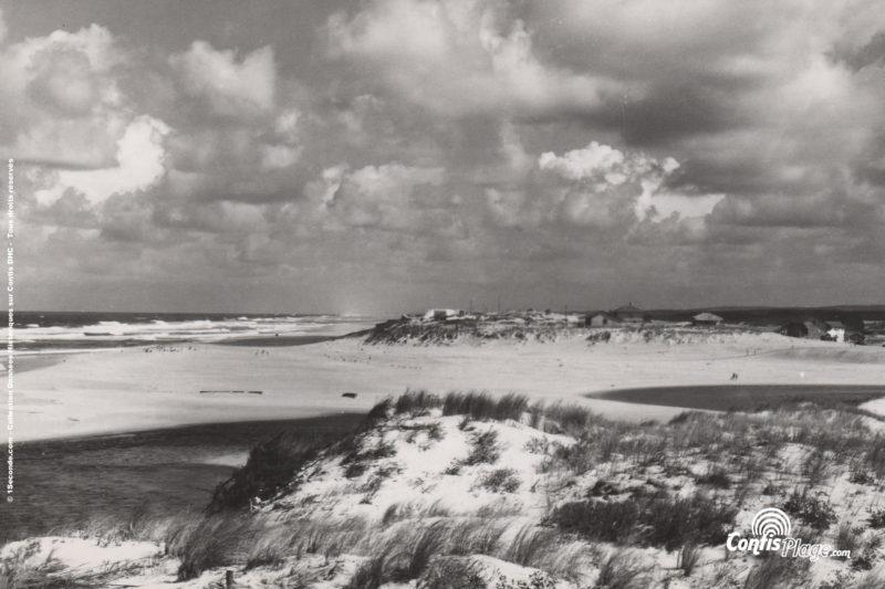 1948 - vue depuis la rive Su de courant de la position Ba02