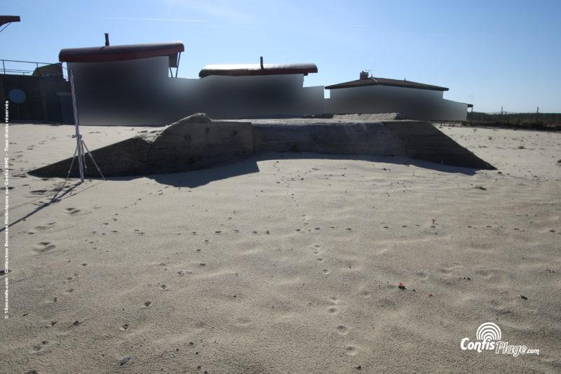 Échelle 2m - face Ouest - bunker R612 - Position Ba02 Contis - septembre 2016