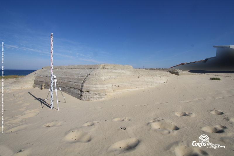 Échelle 2m - face Sud-Est - bunker R612 - Position Ba02 Contis - septembre 2016