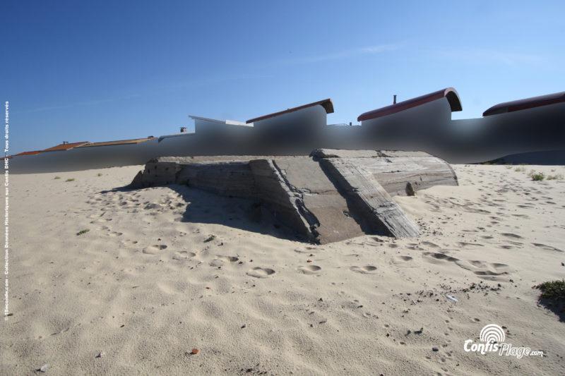 Échelle 2m - face Sud-Ouest - bunker R612 - Position Ba02 Contis - septembre 2016