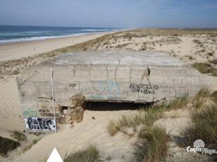 Échelle 4m - Face Sud - bunker R612 - Position Ba01 Contis - septembre 2016