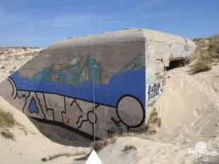 Échelle 5m - Face Sud-Ouest - bunker R612 - Position Ba01 Contis - septembre 2016