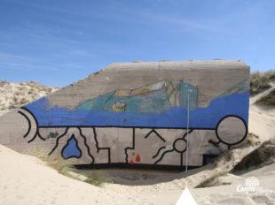 Échelle 5m - Face Ouest - bunker R612 - Position Ba01 Contis - septembre 2016
