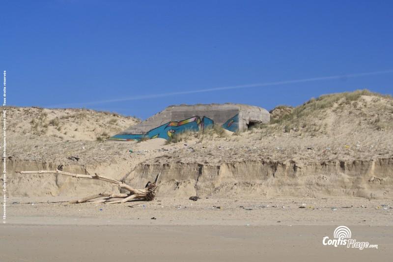 Le bunker Nord de Contis – code Ba01 – marque le début de la partie Basque de l'AtlantikWall