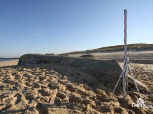 Échelle 2m - bunker R612 - Ba03 Contis, face Ouest
