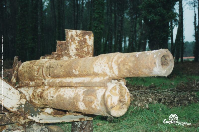 Le canon Poutilov Russe découvert en 2001 à Contis