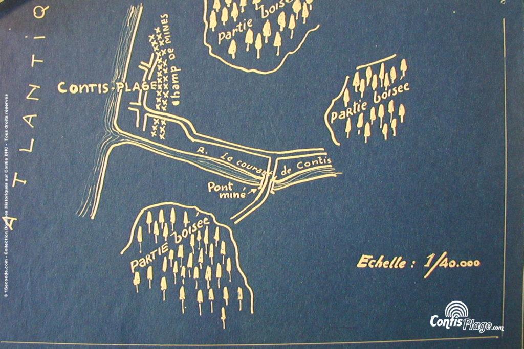 Janvier 1944 - Plan original réalisé par un espion de la DGSS à Contis (source 6/27)