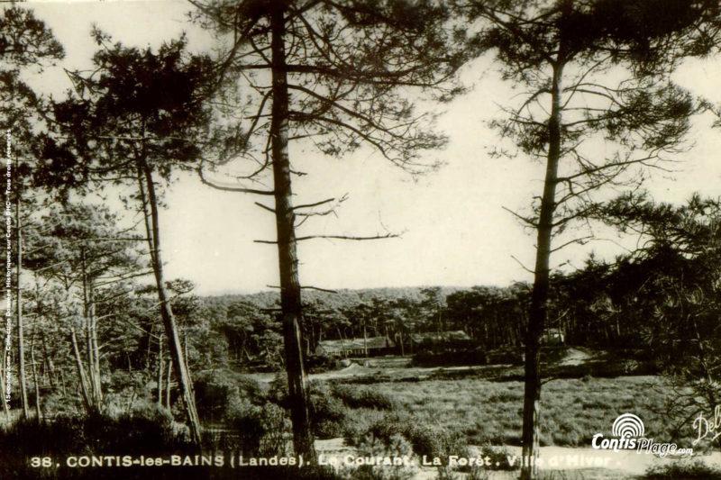 """Contis, La Ville d'Hiver avant guerre, vue depuis """"Lous Seurrots"""""""