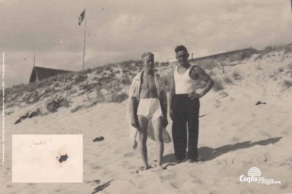 Plage de Contis, 1942 - 1943
