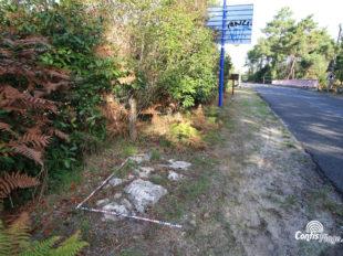 Certains vestiges de l'ancien tracé restent aujourd'hui encore visibles à proximité du pont rose
