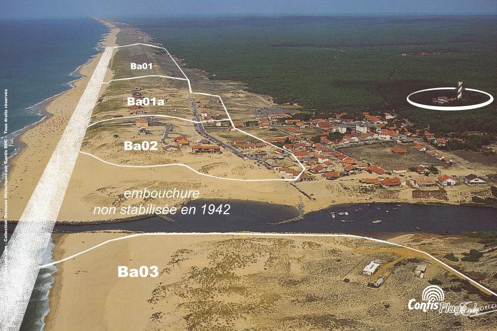 Zonage de défense de la plage de Contis en 1943